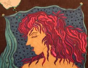 """""""Mein geliebter Theodora"""", 50x65, diverse Marker auf Papier, Preis auf Anfrage."""
