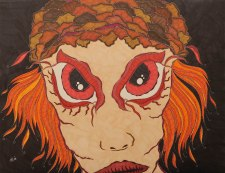 """""""Inneres"""", 50x65, diverse Marker auf Papier, Preis auf Anfrage."""