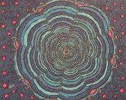 """""""Tiefes Blau"""", 40.6x50.8, diverse Marker auf Papier, Preis auf Anfrage."""