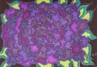 """""""Lila"""", 17.8x25.4, diverse Marker auf Papier, Preis auf Anfrage."""