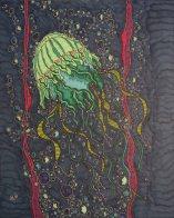"""""""Unter Wasser Schönheit 2"""", 40.6x50.8, diverse Profi-Künstlerstifte auf hochwertigem Papier, Preis auf Anfrage."""