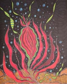 """""""Verpflanzt"""", 40.6x50.8, diverse Profi-Künstlerstifte auf hochwertigem Papier, Preis auf Anfrage."""