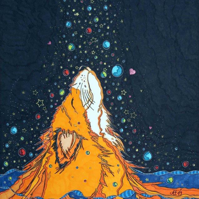 """""""ANDERS TIER 2"""", 40.6x50.8, diverse Profi-Künstlerstifte auf hochwertigem Papier, Preis auf Anfrage."""